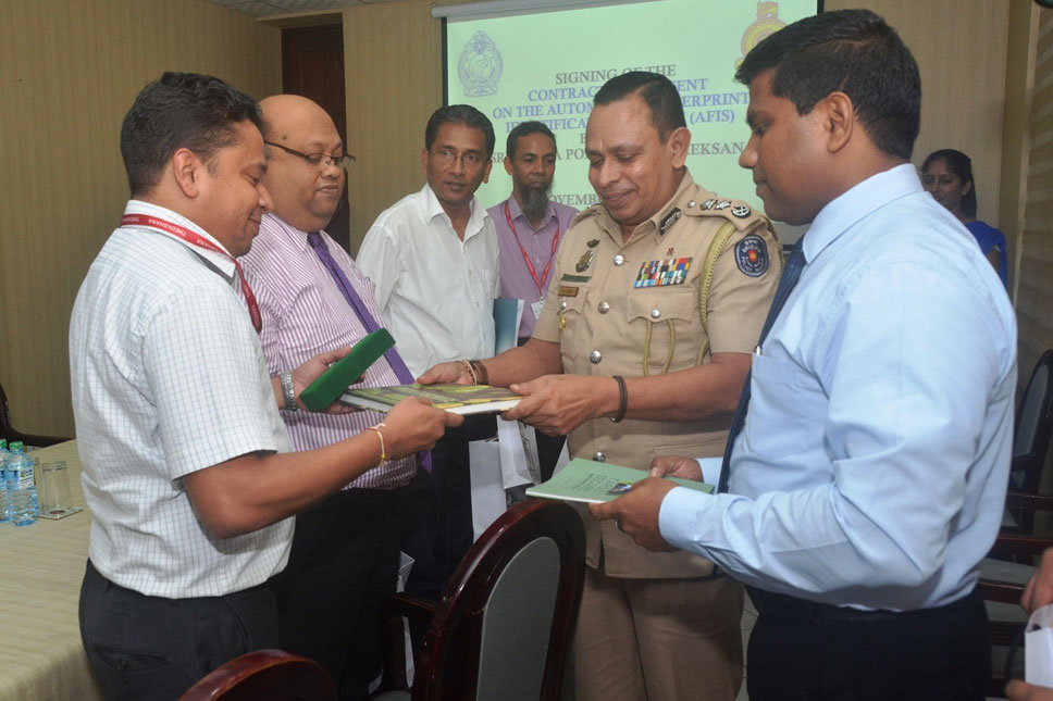 Contract Agreement Signing for the AFIS